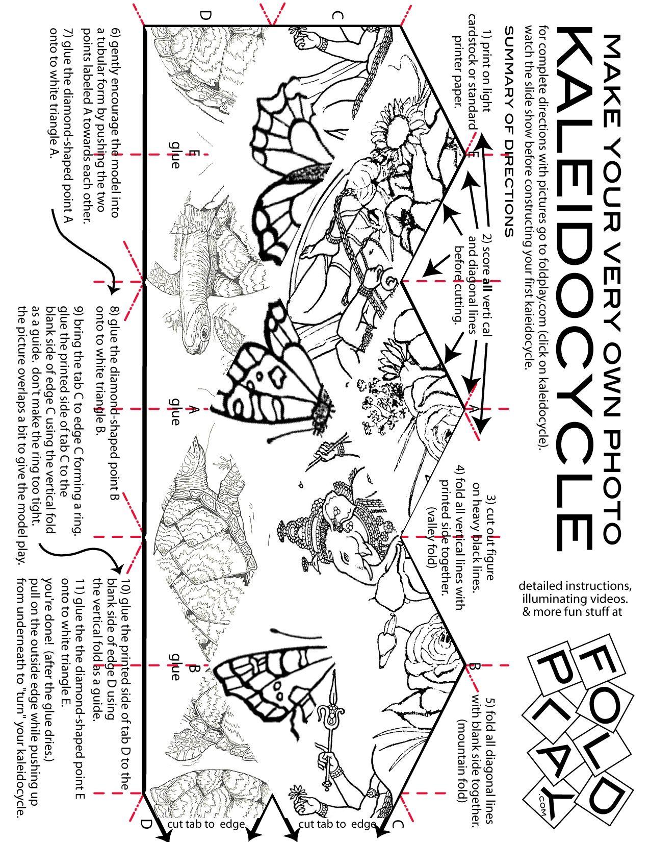 Kaleidocycleanimal 1275x1650 Pixel Bonnieneedles Cootie Catchers