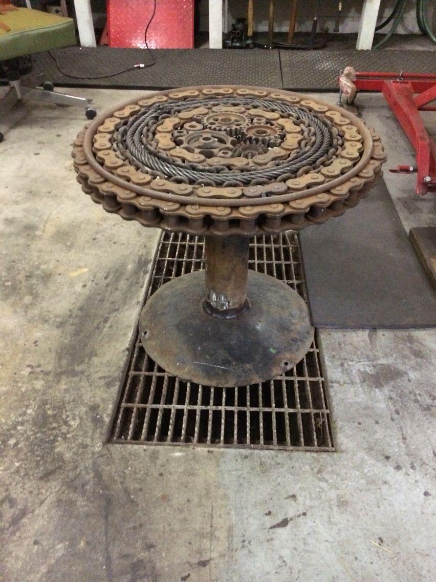 Scrap Metal Table Decor Art