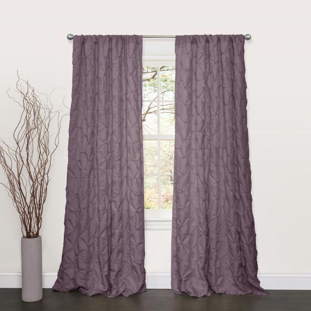 Lush Decor Lake Como Purple 84 Inch Curtain Panel