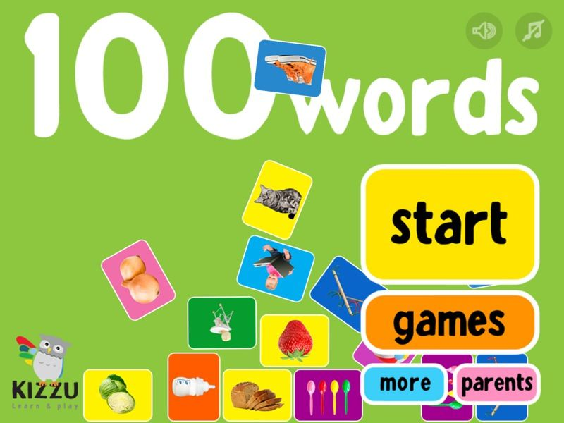 100 words for babies toddlers educational mobile