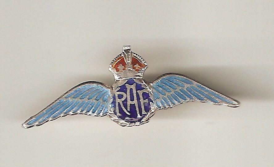 MILITARIA - WW2 RAF PILOTS WINGS SWEETHEARTS BROOCH SILVER