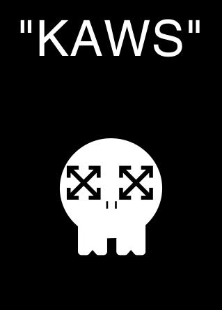 Off White X Kaws Kaws Wallpaper White Stickers Transparent Stickers