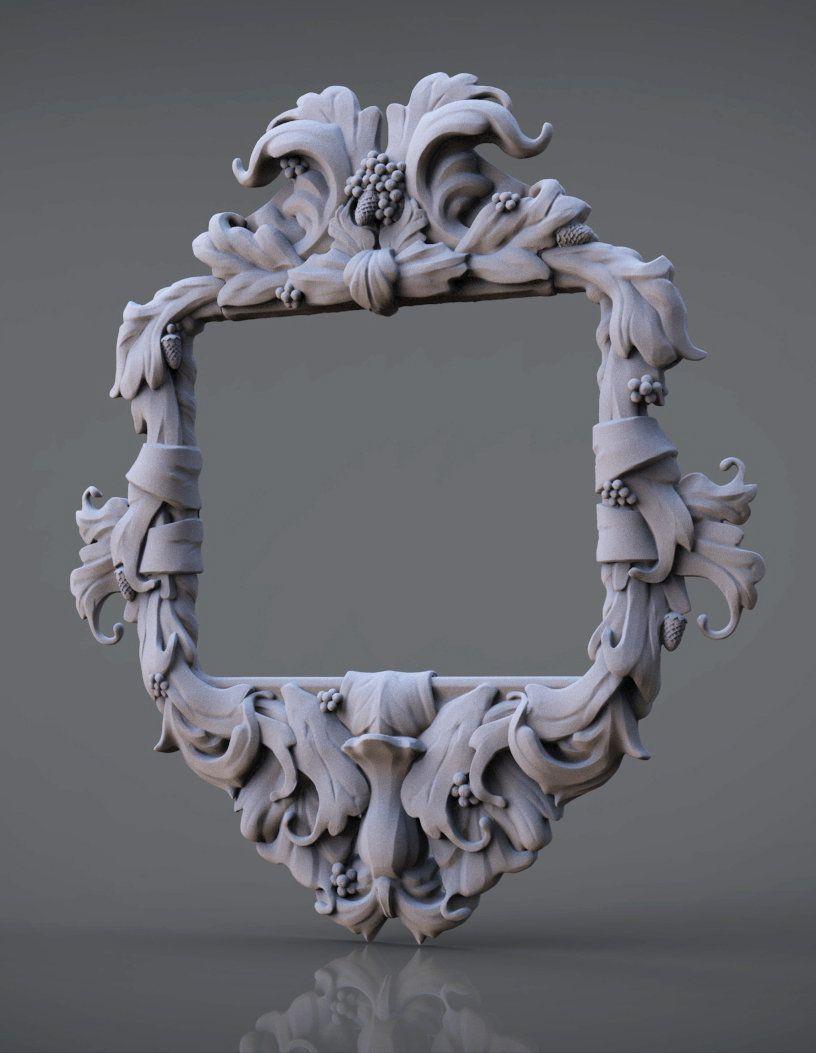 Ornate picture frames, Guðjón Lárusson on ArtStation at http://www.artstation.com/artwork/ornate-picture-frames