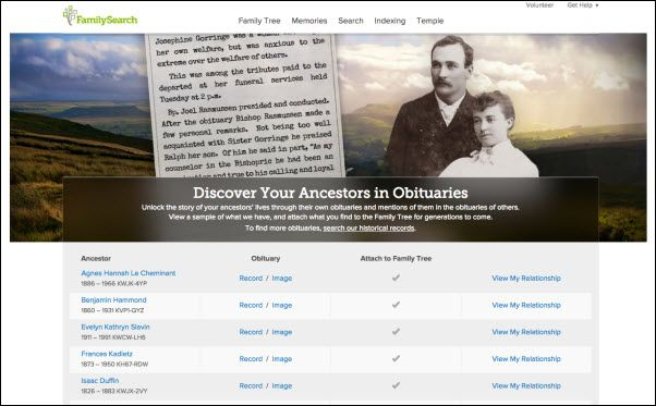 Search obituary images for your own relatives Log in and obituary