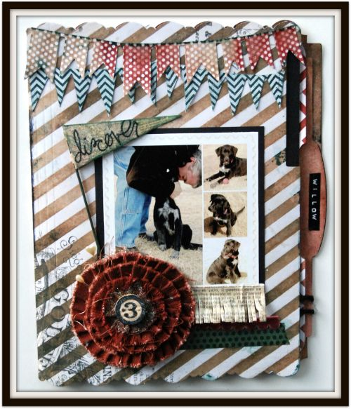 Cover of my Memory File Album using @Canvas Corp, Tattered Angels, @7gypsies and @Spellbinders.