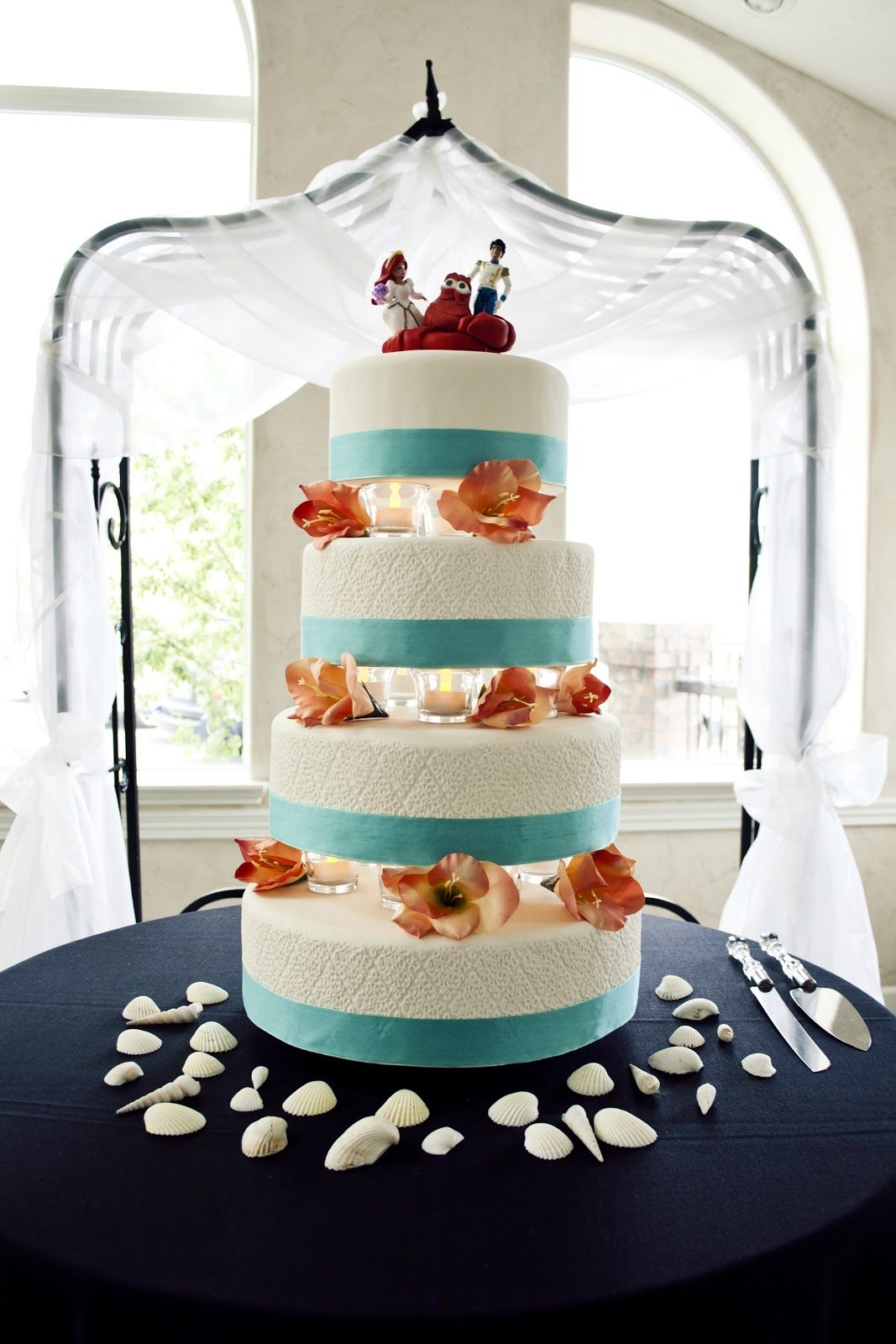 Little Mermaid Wedding Cake My Bro Made For His Own