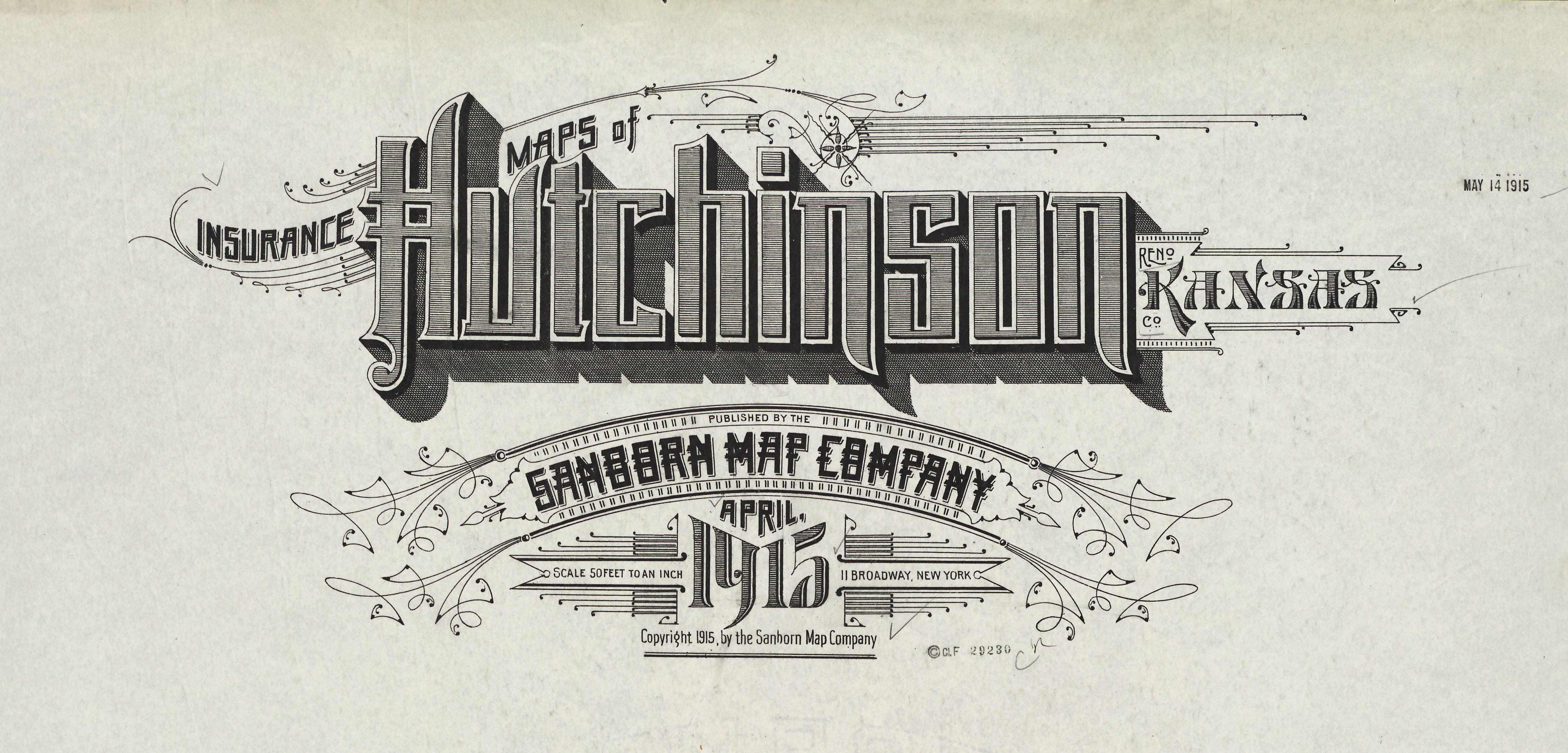 Sanborn Insurance Map Kansas Hutchinson 1915 Detail With