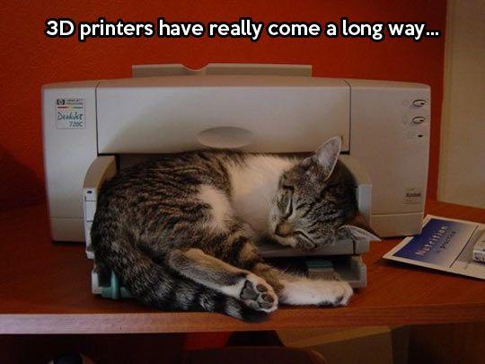 3D printers...