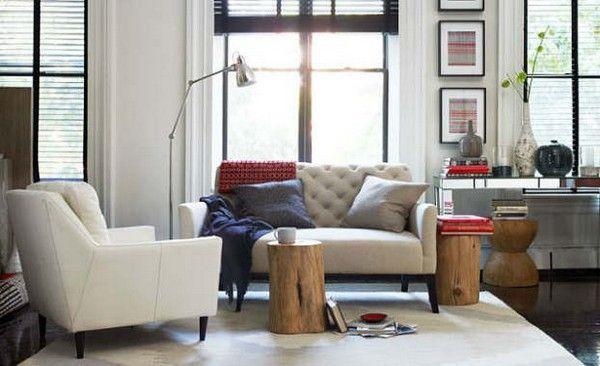 Como Decorar Mí Casa 13 Reglas De Oro West Elm Living Room Home Decor Tree Stump Side Table