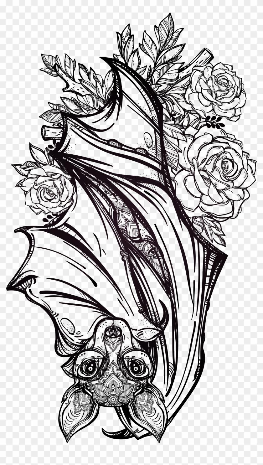 Find Hd Tattoo Bat Fashion Artist Flash Gothic Hand Painted Vampire Bat Bat Tattoo Design Hd Png Download T Bats Tattoo Design Vampire Tattoo Gothic Tattoo
