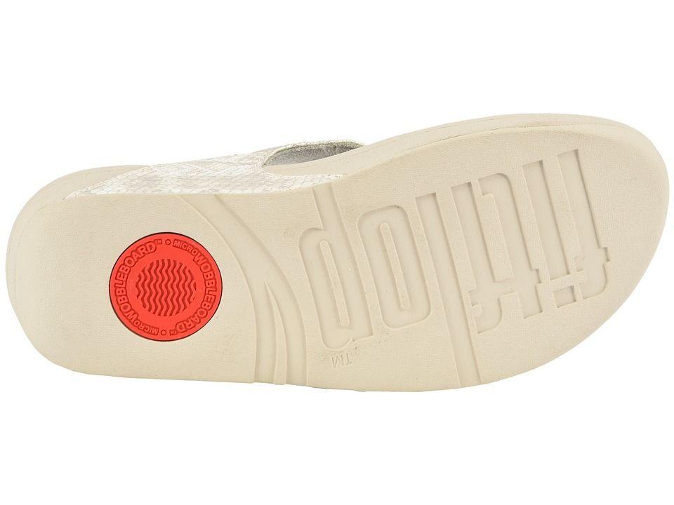 ecc1278d636c FitFlop Lulu Python Print Toe Thong Sandals Women s Shoes Urban White