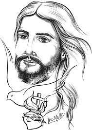 Resultado De Imagen Para Jesus Para Colorear Jesus Drawings Biblical Art Art Sketches