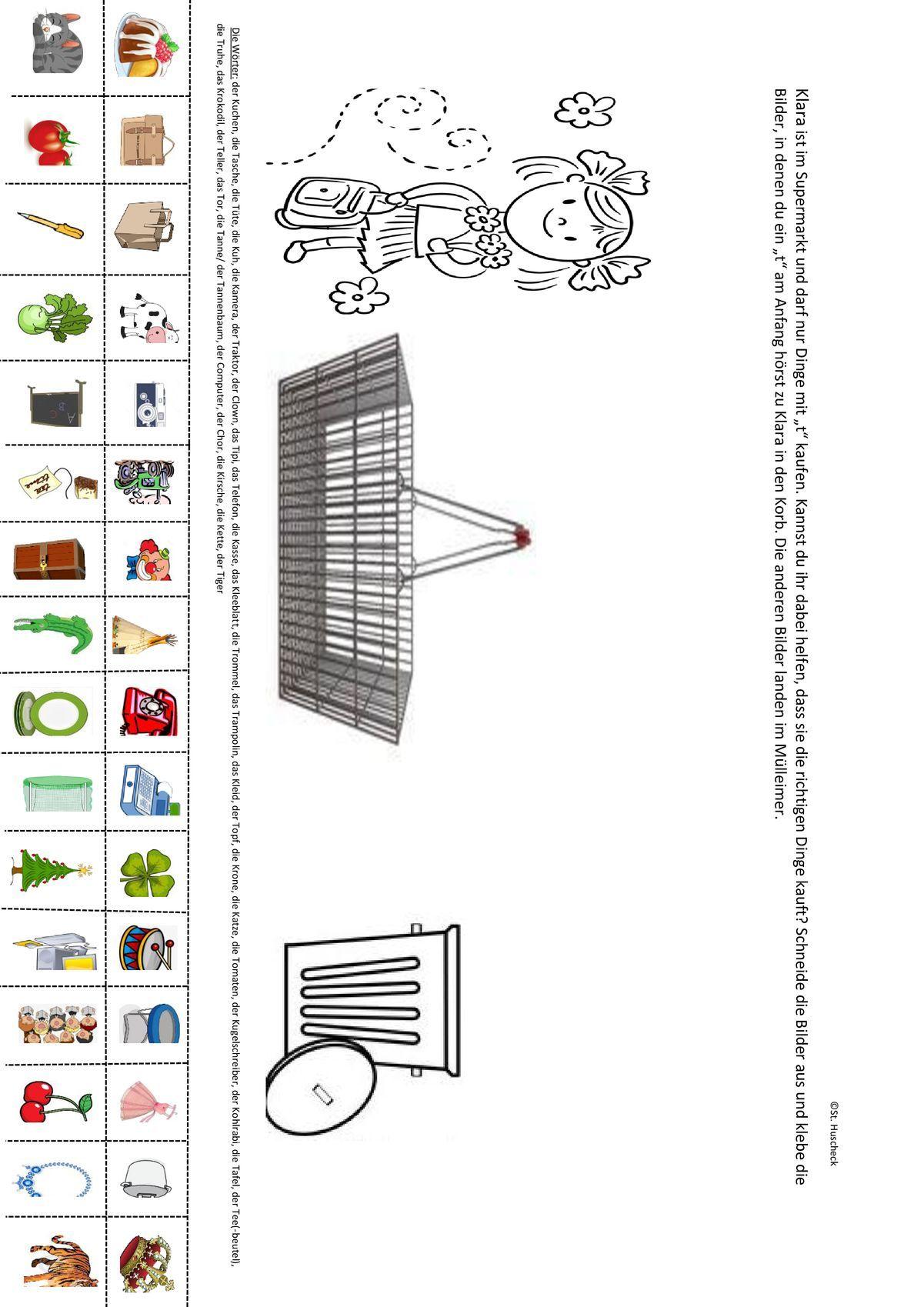 k oder t einkaufen mit klara artikulation vorkurs kinder schule einkaufen und. Black Bedroom Furniture Sets. Home Design Ideas