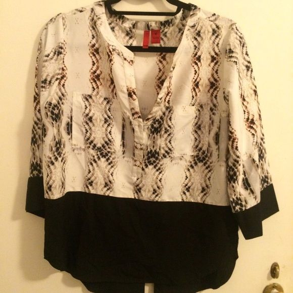 548 Medium animal print shirt Size Medium shirt from Off Saks. 548 Tops