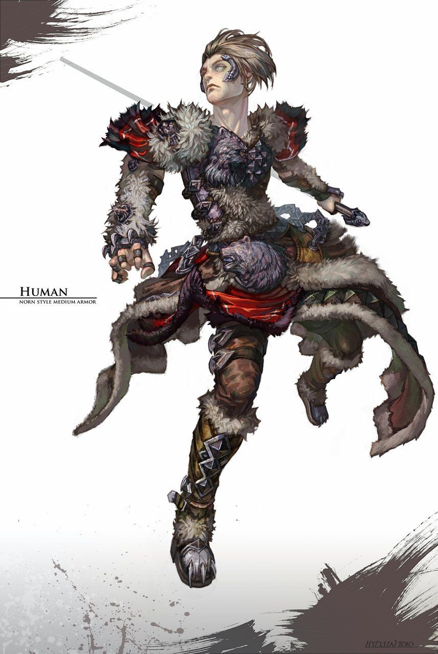 Guild Wars 2 Norn Medium Armor art   Guild Wars 2   Guild wars
