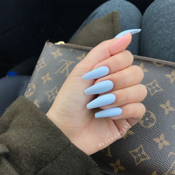 Have A Look At Our Coffin Acrylic Nail Ideas With Different Colors Trendy Coffin Nails Acrylic Nails Different Blue Acrylic Nails Yellow Nails Trendy Nails