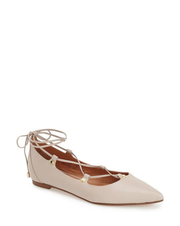 owen pointy toe ghillie flats