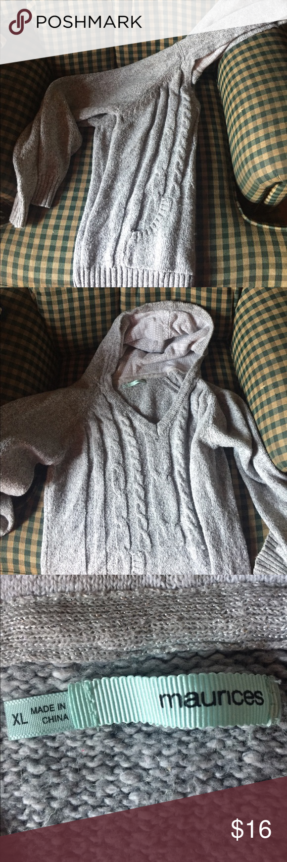Maurice's Sweater Hooded sweater. Every purchase gets a free gift Maurices Sweaters V-Necks