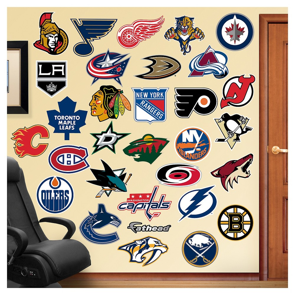 Decorative Wall Art Set Fathead 52 X 4 X 4, Nhl | Wall art sets ...