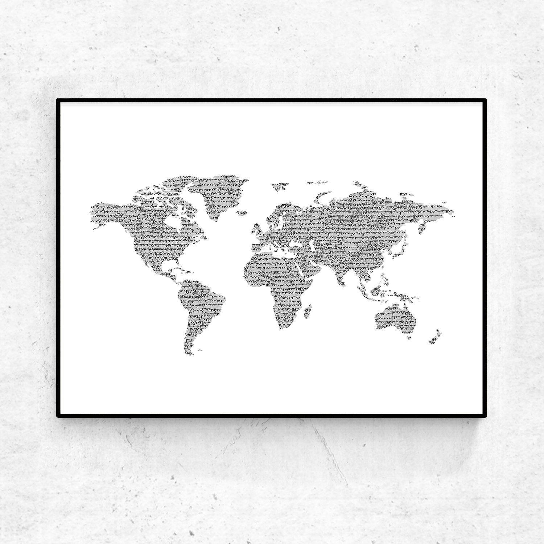 World map poster world map wall art world map art world map world map poster world map wall art world map art world map downloadable gumiabroncs Choice Image