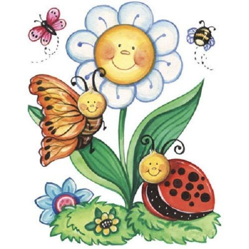 Details About Butterfly Ladybug HEAT PRESS TRANSFER For T