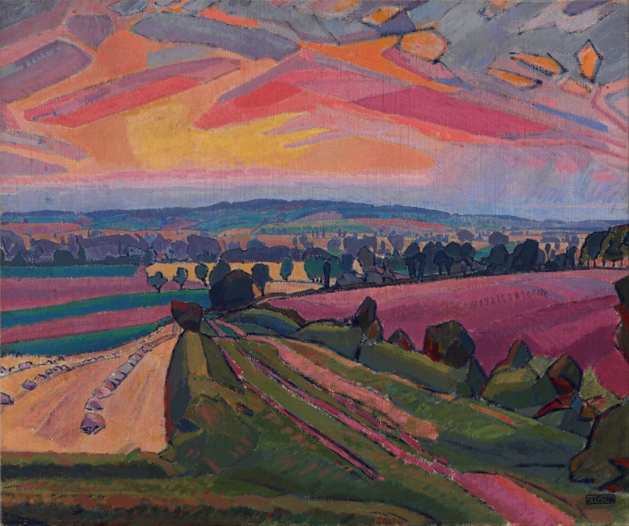 lawrenceleemagnuson:  Spencer Gore (1878-1914)The Icknield Way (The Cinder Path) 1912oil on canvas 83.9 x 96.6 cmArt Gallery of New South Wales,Sydney
