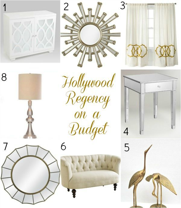 Get The Luxe Hollywood Regency Look In Your Home Decor Without Breaking  Your Budget.