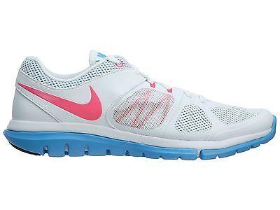 b015a86d6e916 Nike Flex 2014 Rn Msl Womens 642780-101 White Pink Blue Running Shoes Size 9
