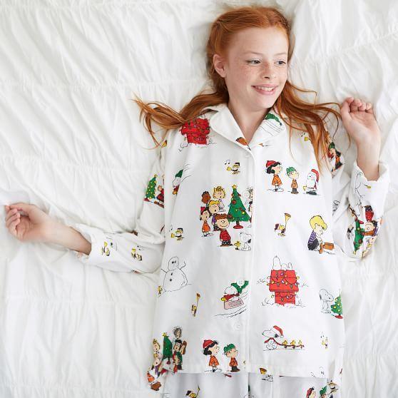 Peanuts 174 Organic Flannel Pajama Set Pajama Set Flannel