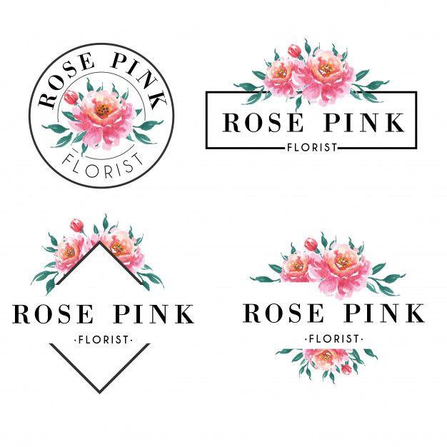 Feminine Logo Set In Gold Rose