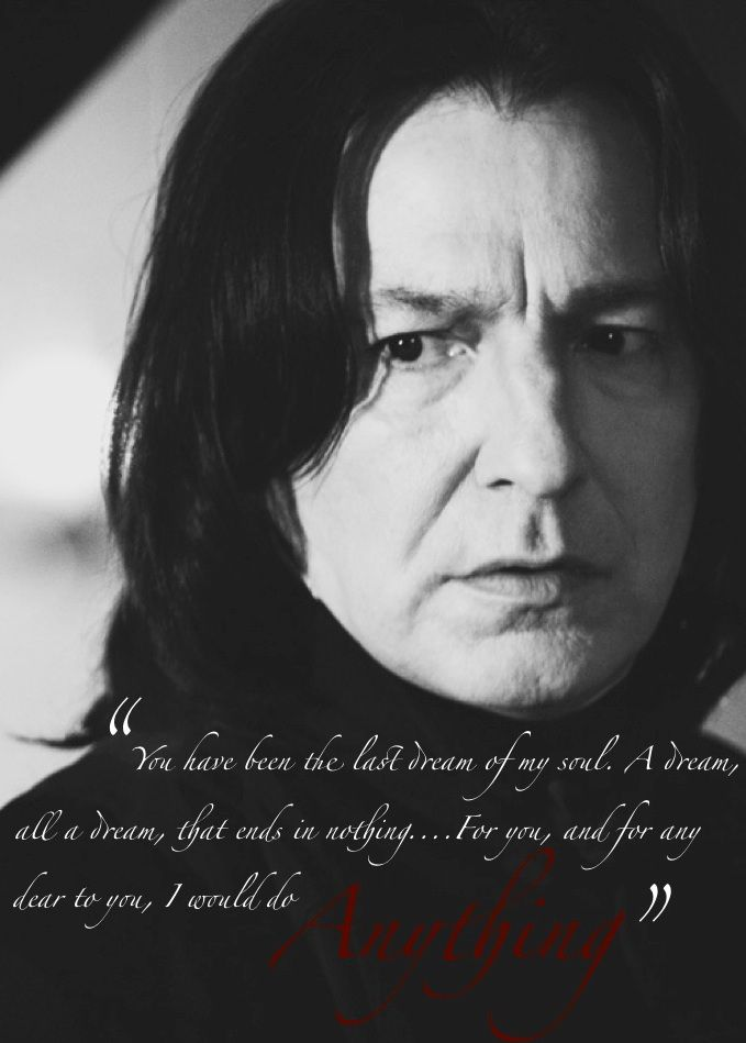 Severus Snape and Sydney Carton: two of my favorite characters. I couldn't resist. :)