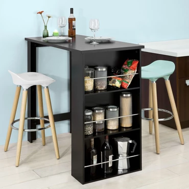 Kitchen Bar Table With Storage Shelves Bar Dining Table Small Kitchen Tables Wood Dining Room Set