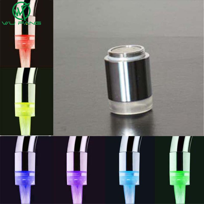 LED Water Faucet Color Change Glowing Water Diffuser Temperature ...