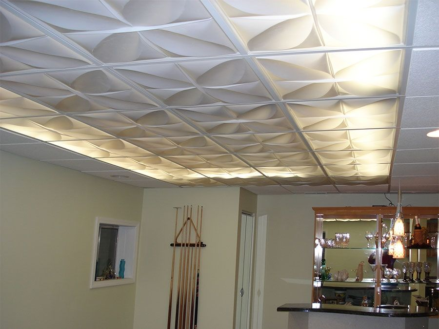 Ceilume Petal Ceiling Tiles Were Used To Create A Lit Canopy Effect