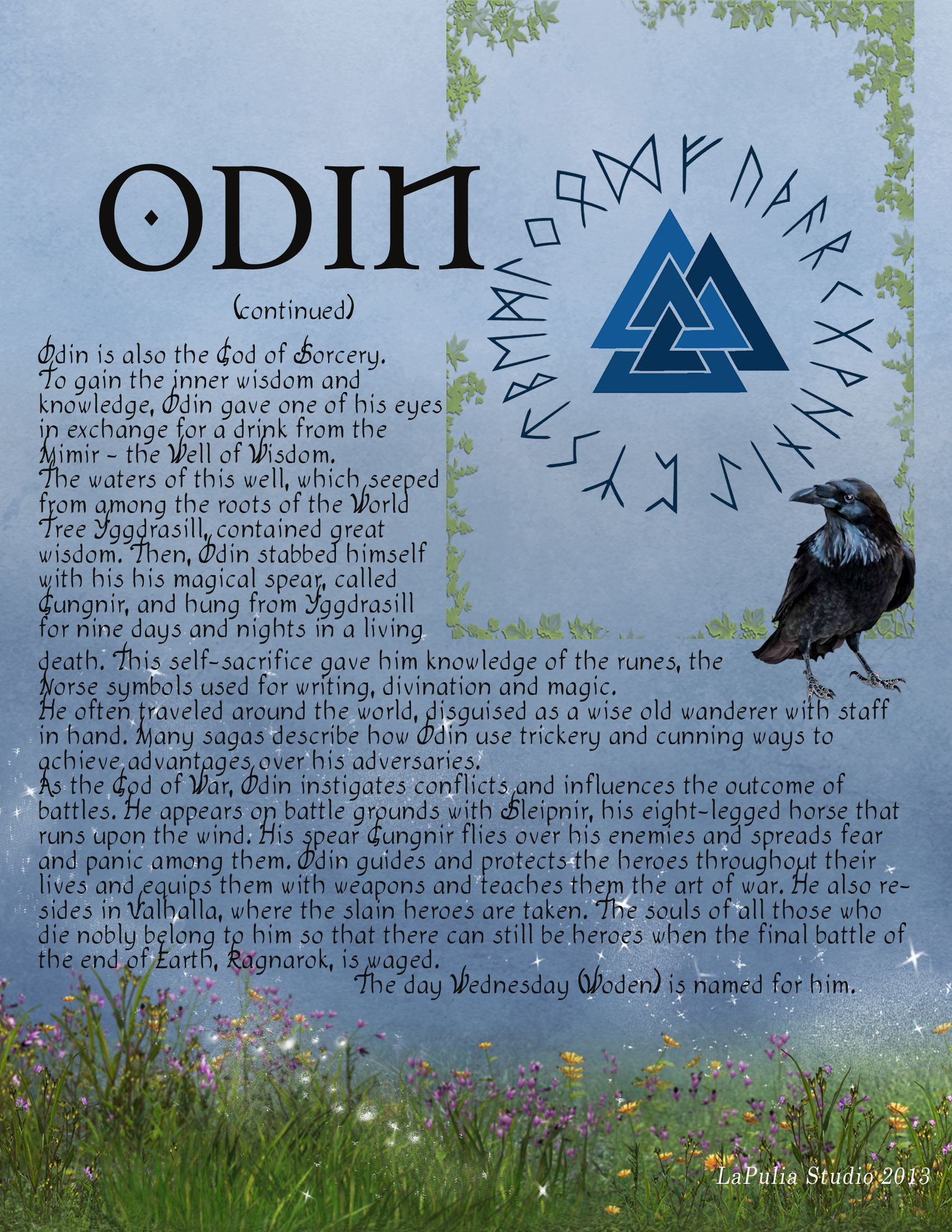 A description of Odin, The leader of the Norse Pantheon (page 2)