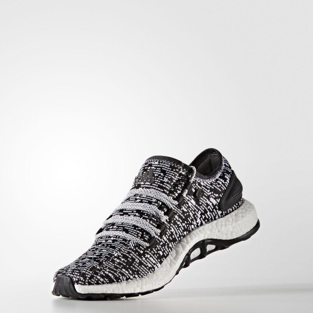 Herren Adidas Pure Boost Oreo BA8890 Kern Schwarz Weiß |