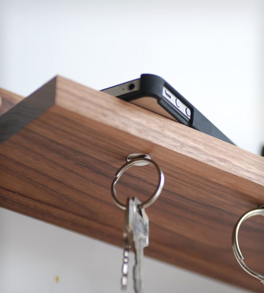 Wall Key Holder Magnetic Key Ring Holder Shelf Home Decor Meriwether Of
