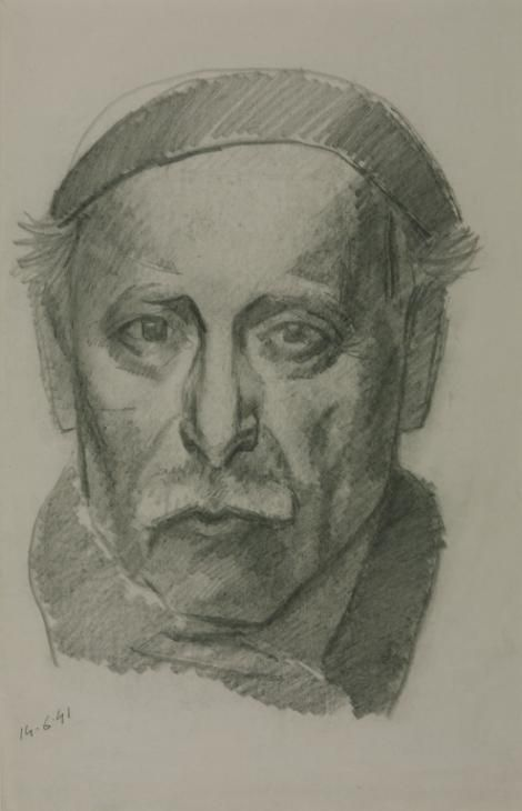 Julio González, 'Self-Portrait' 1941 I like this one! It seems more of a mark drawing.