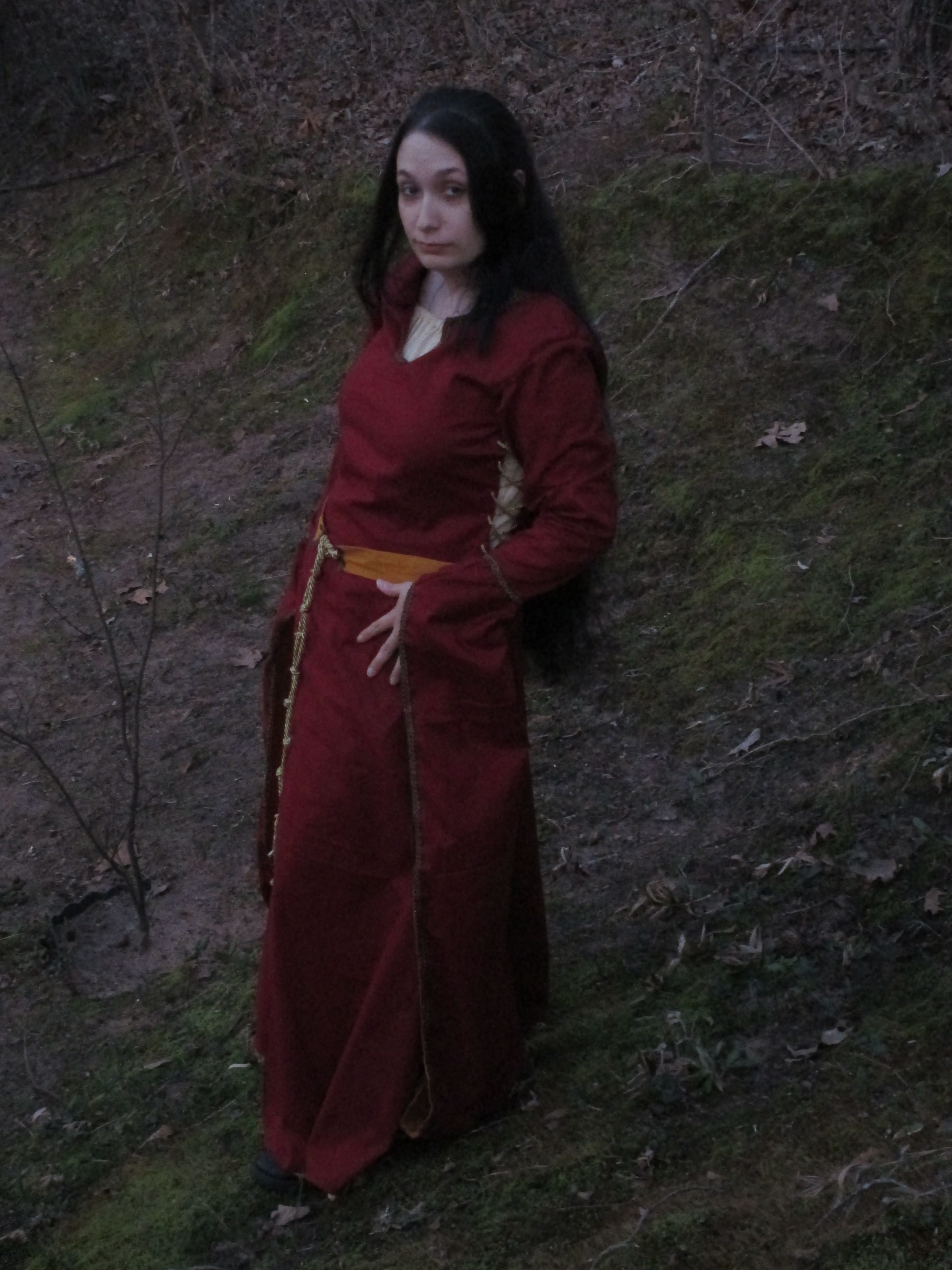 Red And Gold 12th Century Dress With Pendant Sleeves Check Out Its Construction Here Http Admiringmiranda Tumblr Altering Clothes Century Clothing Fashion