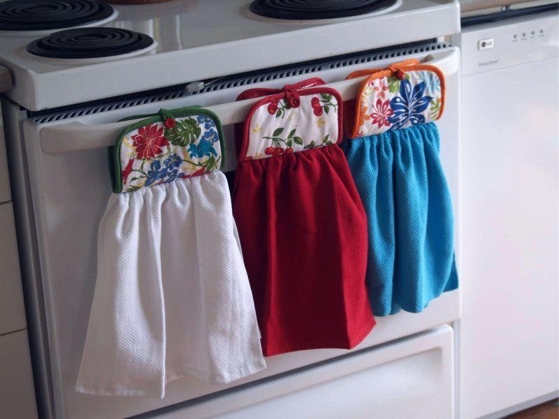 Кухонные полотенца своими руками на держателях