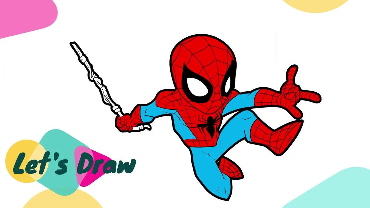 How To Draw And Colour Spiderman Coloring Page Spiderman Spiderman Coloring Spiderman Coloring Pages