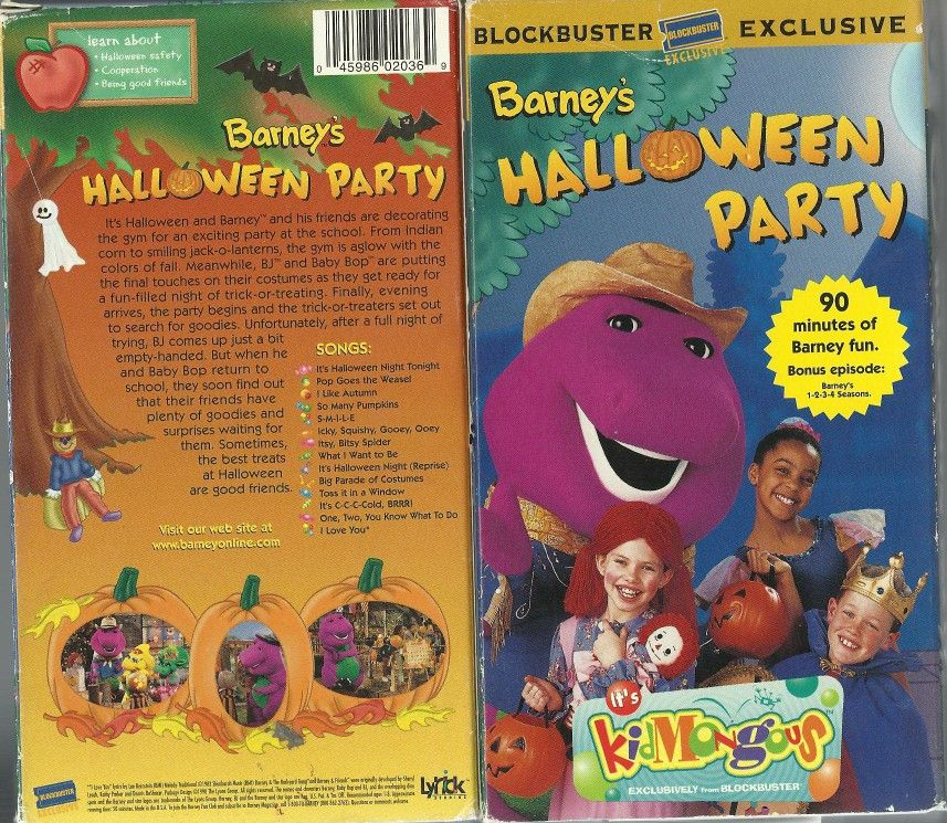 Barney's Halloween Party (Blockbuster Exclusive) VHS