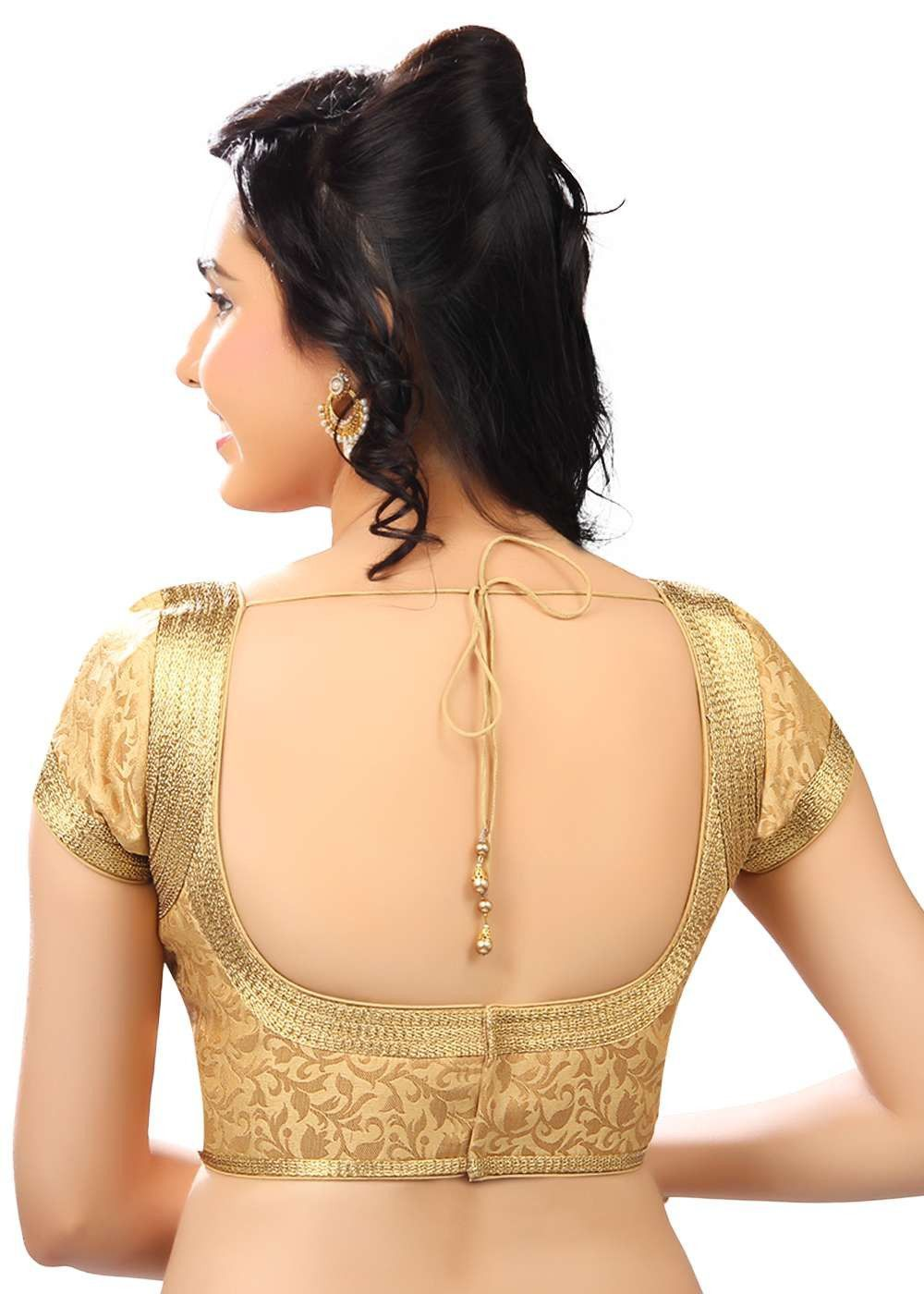 Blouse designs saree blouse back designs blouses neck designs 30 jpg - Top 60 Latest Blouse Back Neck Designs Designers Choice