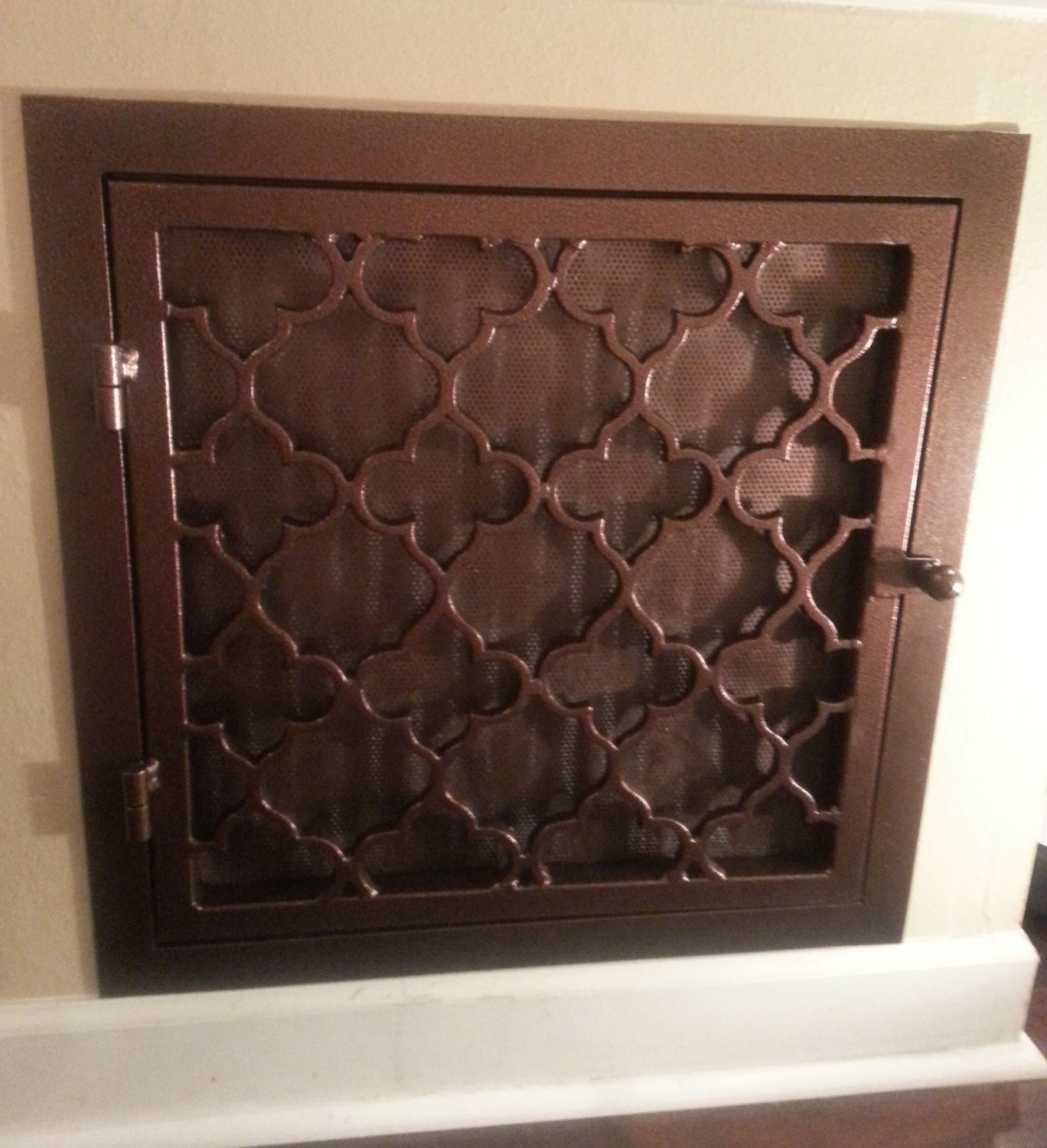 Decorative wrought iron vent cover Trellis style by