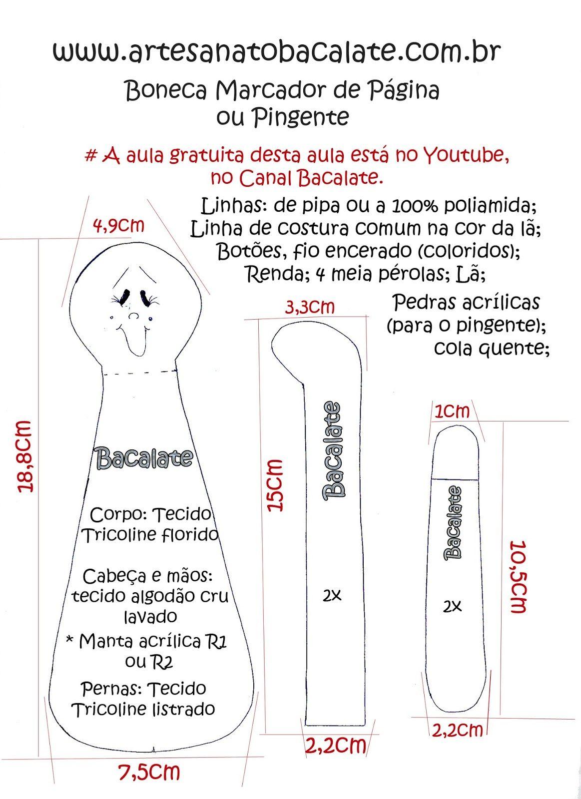 Molde+Boneca+Marcador+de+P%C3%A1gina+Canal+Bacalate.jpg (1163×1600)