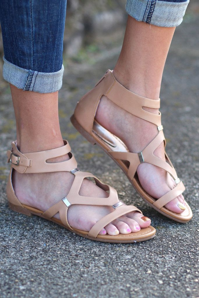 ea77b69911a Ruby Gladiator Sandals  Natural  from The Fair Lady Boutique. Saved to  Sandals. Shop more products from The Fair Lady Boutique on Wanelo.