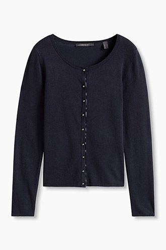 Esprit Feinstrick Cardigan mit Halbkugelknöpfen   Sweaters
