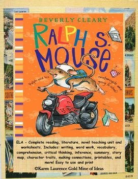 Ralph S Mouse By Beverly Cleary Ela Novel Reading Study Guide My