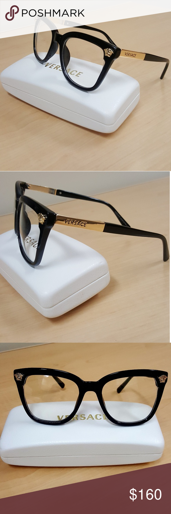 2cb05f145ed Nice Authentic Versace Sig Cat-Eye Medusa Glasses One of the finest unisex  eyeglasses from Gianni Versace Versace Accessories Glasses