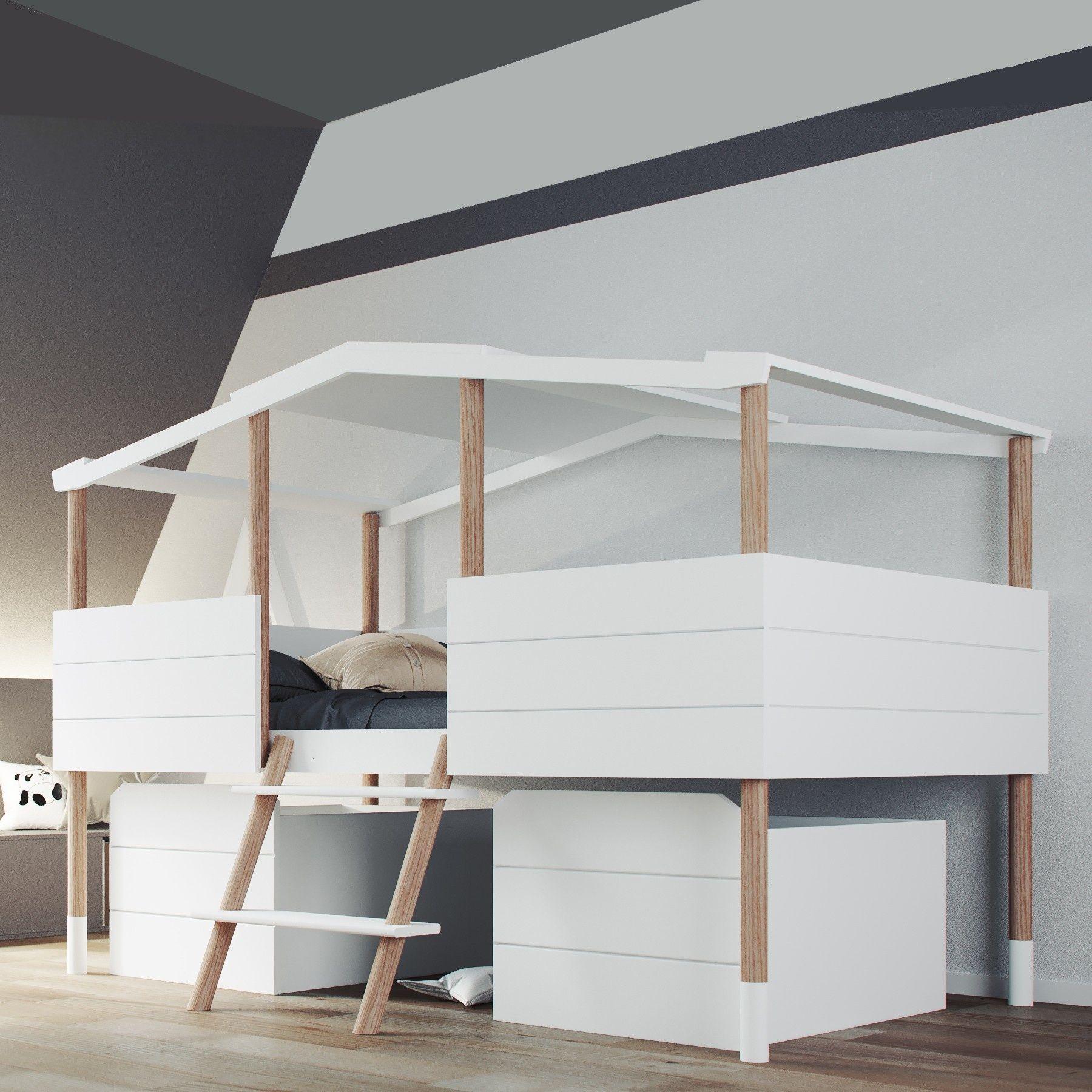 Wallenfels Kinderbett Haus Halbhohes Kinderbett Kinderschlafzimmer